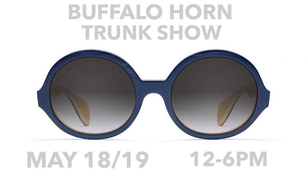 Morgenthal Frederics Buffalo Horn Trunk Show